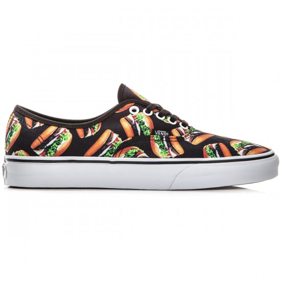 Vans Original Authentic Shoes - Late Night Black/Hamburgers - 8.0