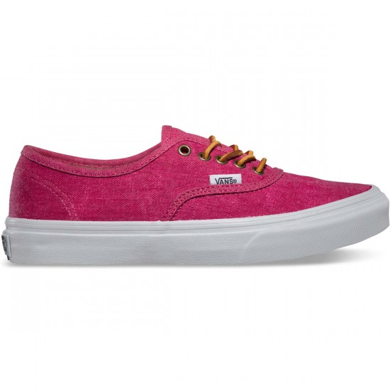 Vans Washed Authentic Slim Womens Shoes - Persian Red - 7.5