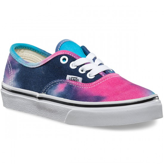 030531953f07 Vans Toddler Authentic Tie Dye Shoes - Pink Blue - 4Y