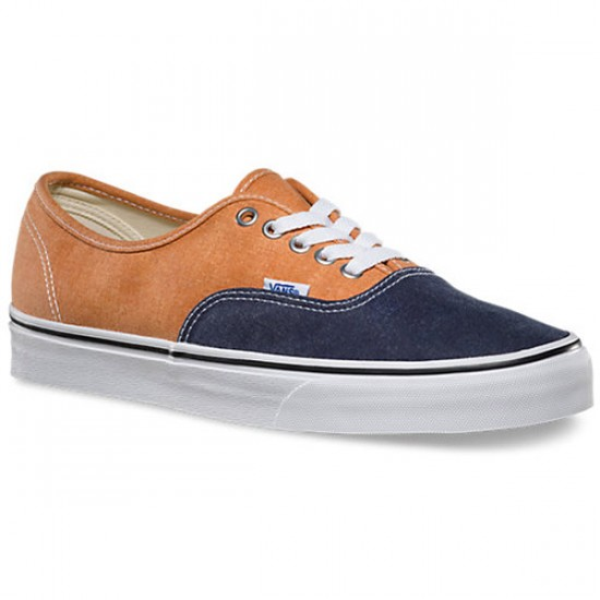 Vans Authentic Washed 2 Tone Shoes - Peacoat/Golden Ochre - 10.0