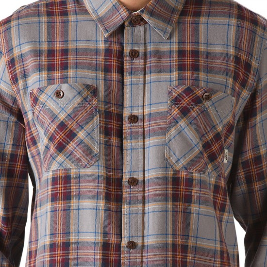 Vans Birch Flannel Shirt - Frost Grey/Wine
