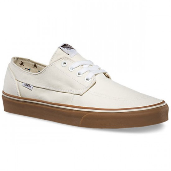 Vans Brigata Canvas Shoes - Bone White/Gum - 10.0