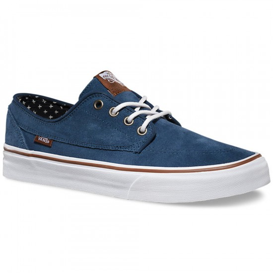 Vans Brigata Suede Shoes - Insignia Blue/Plus - 6.0