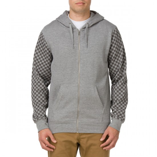 Vans Capitan Zip Hoodie - Concrete Heather