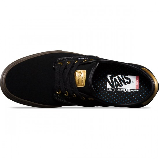 Vans Chima Ferguson Pro Shoes - Black/Gum/Gold - 8.0