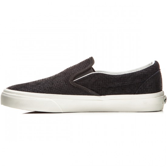 Vans Classic Slip-On Shoes - Braided Suede Black - 8.0