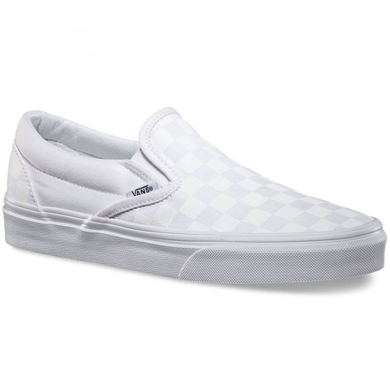 vans classic slip on true white checkerboard