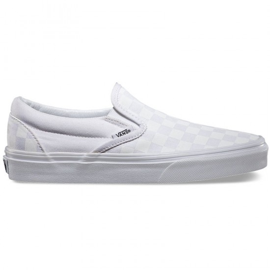 Vans Classic Slip-On Shoes - Checkerboard/True White - 6.0