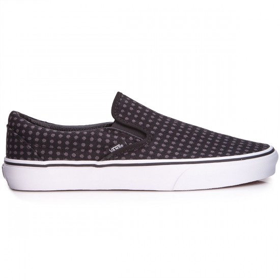 Vans Classic Slip-On Womens Shoes - Wool Dots/Black/White - 3.5