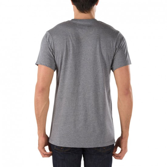 Vans Dual Palm Island T-Shirt - Rock Grey Heather