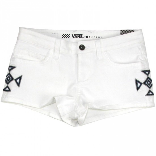 Vans Embroidered Women's Shorts - White
