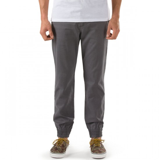 Vans Excerpt Pegged Chino Jogger Pants - Gravel