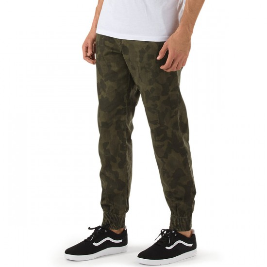 Vans Excerpt Pegged Chino Jogger Pants - Bubble Camo