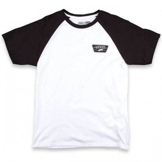 Vans Full Patch Short Sleeve Raglan T-Shirt - White/Black
