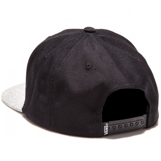 Vans Full Patch Snapback Hat - Black/Heather Grey