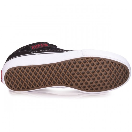 Vans Half Cab Pro Shoes - Black/White/Red - 8.0