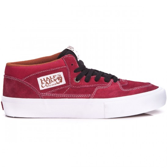 Vans Half Cab Pro Shoes - Tibetian Red/White - 6.5