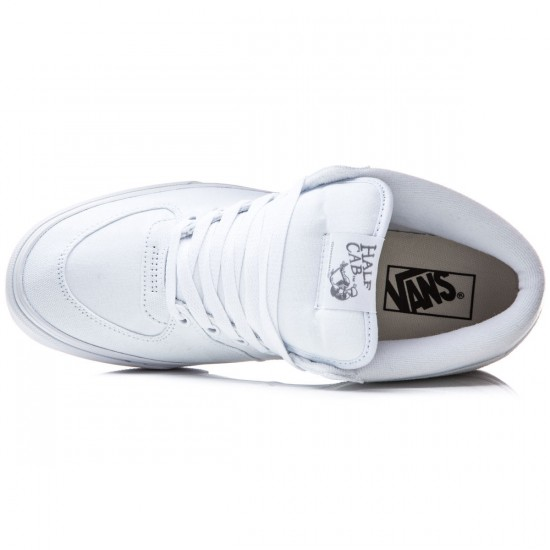 Vans Half Cab Shoes - Canvas True White/Wild Dove - 8.0