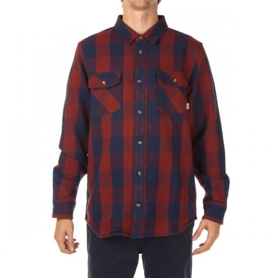 Vans Hixon Shirt - Dark Denim/Russet