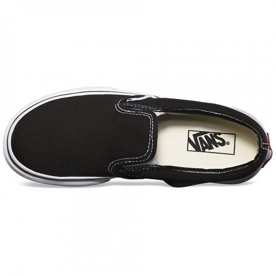Vans Little/Big Kid Classic Slip-On Shoes - Black/True White - 12C