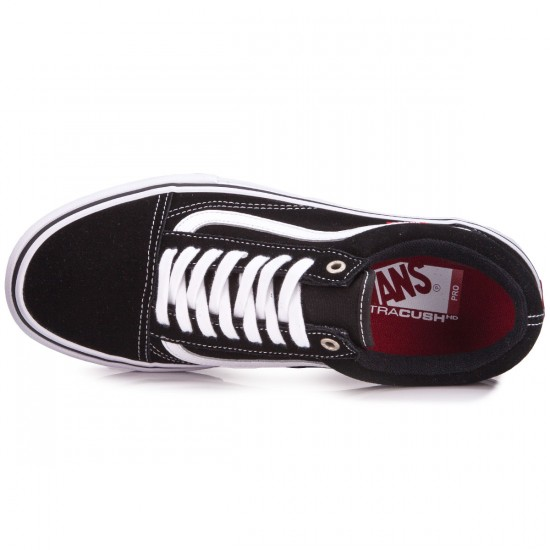 Vans Old Skool Pro Shoes - Black/Red/White - 6.5