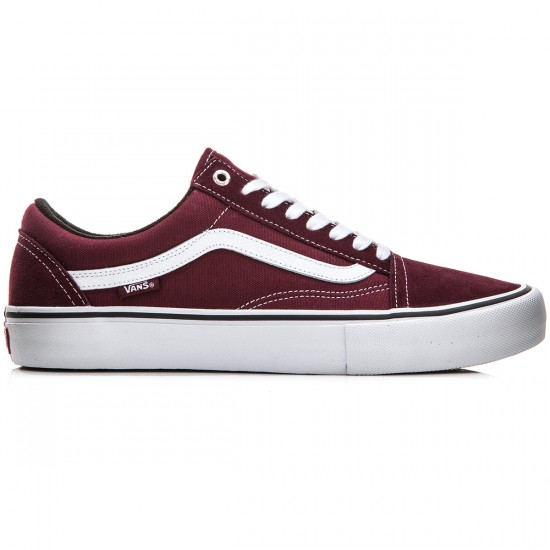 Vans Old Skool Pro Shoes - Port/White - 10.5