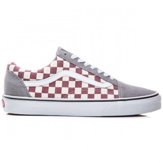 Vans Old Skool Shoes - Checkerboard/Frost Grey/Rhubarb - 8.0