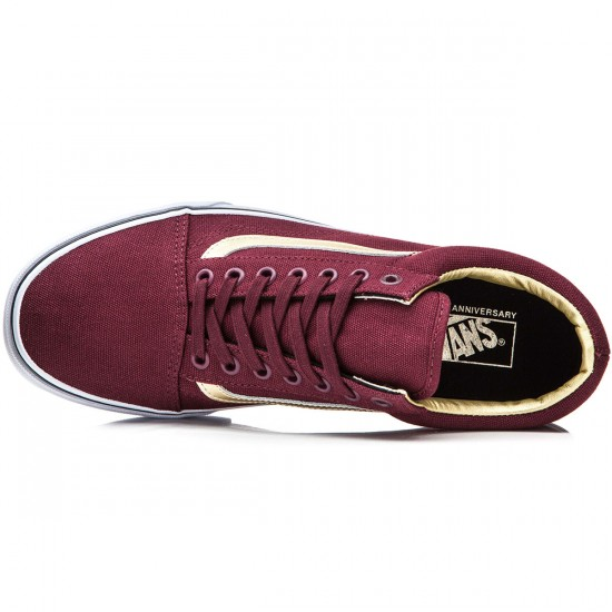 Vans Old Skool Shoes - Port Royal/Gold - 8.0