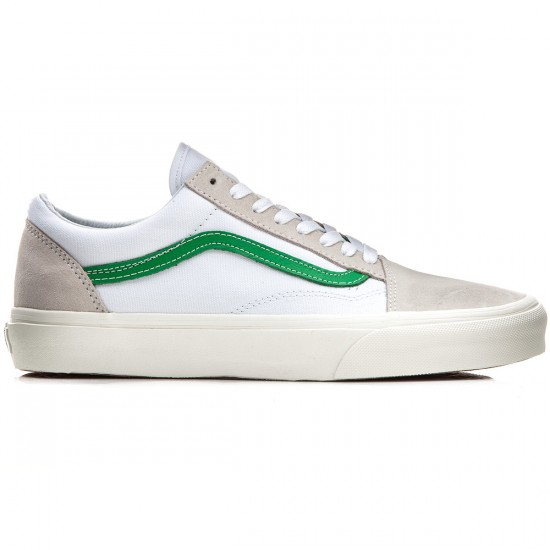 Vans Old Skool Shoes - Vintage Sport White/Kelly Green - 8.0