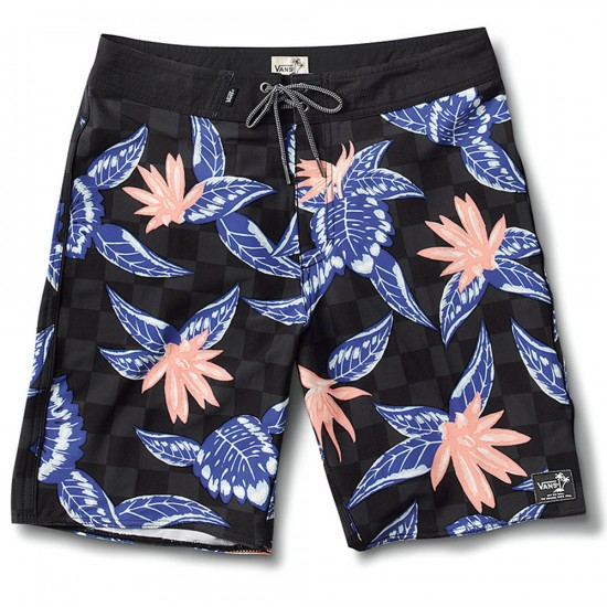 Vans Pismo Boardshorts - Black Checker Floral