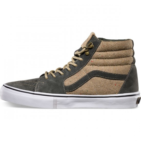 Vans Outdoor Sk8-Hi Pro Shoes - Dark Military/Tan - 8.0