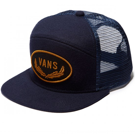 Vans Sign 6 Panel Trucker Hat - Dress Blues