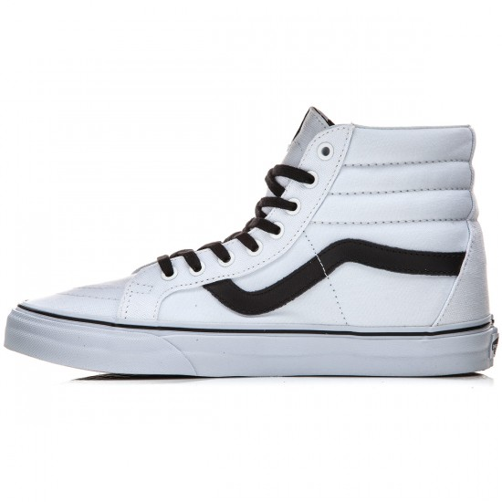 Vans SK8-Hi Reissue Shoes - Canvas True White/Black - 10.0