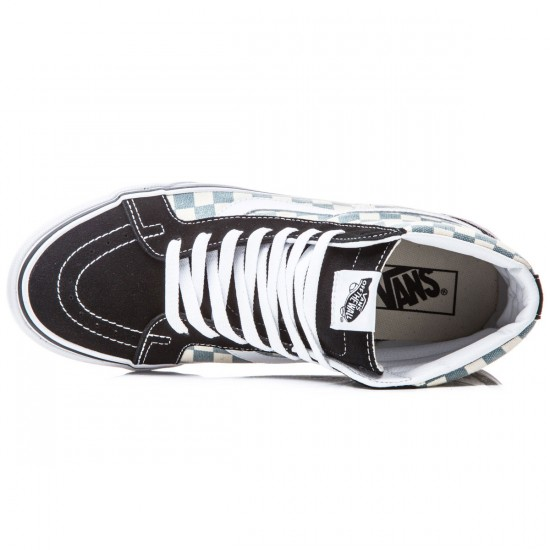 Vans SK8-Hi Reissue Shoes - Checkerboard/Black/Citadel - 8.0