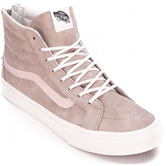 8f992bda84 Vans SK8-Hi Slim Zip Womens Shoes - Croc Emboss Hemp Blanc - 5.0