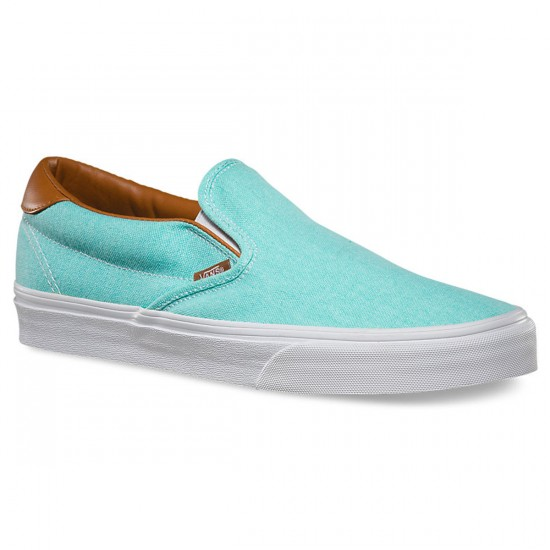 Vans Slip-On 59 Washed C&L Shoes - Aruba Blue - 9.0