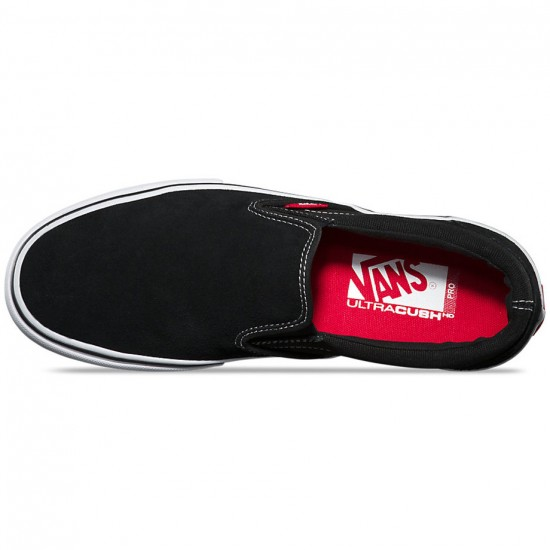 Vans Slip On Pro Shoes - Black/White/Gum - 8.0