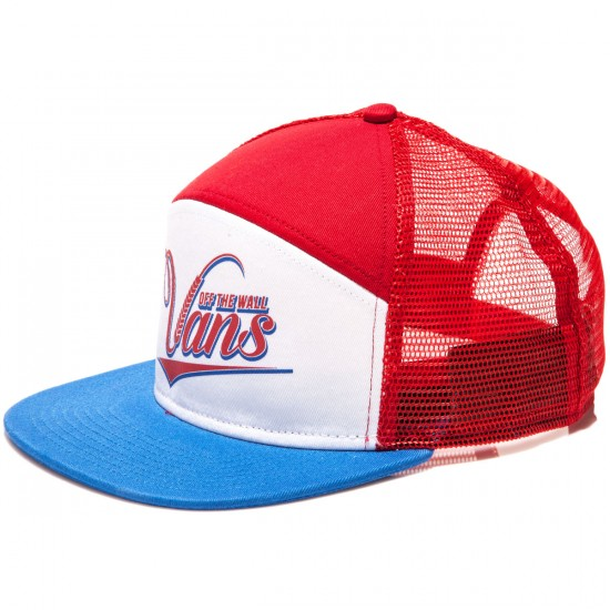 Vans Suds 6 Panel Trucker Hat - Racing Red/White/Victoria
