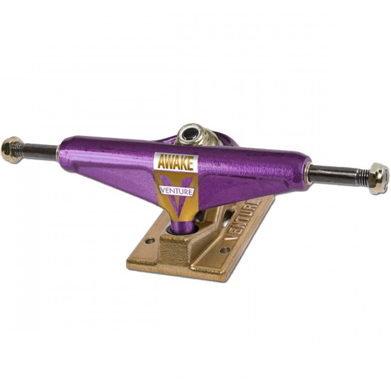 Venture OG Awake Skateboard Trucks - Purple/Gold - Hi