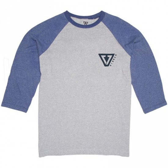 Vissla Established Raglan T-Shirt - Naval Heather