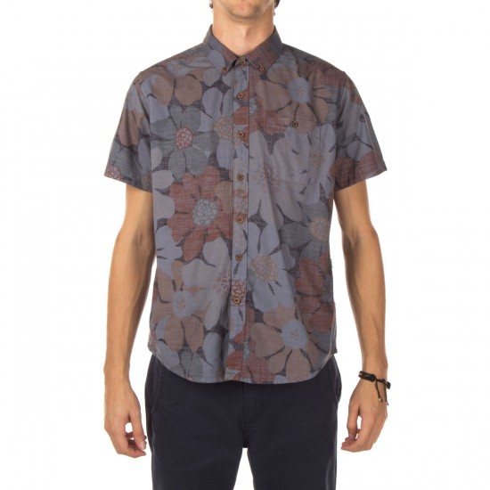 Vissla Loungerz Short Sleeve Woven Shirt - Rust