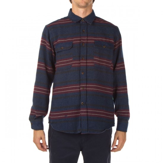 Vissla Mirror Lake Flannel Shirt - Dark Navy
