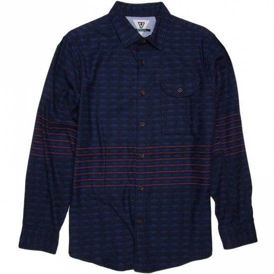 Vissla Seven Thirds Long Sleeve Woven Shirt - Naval