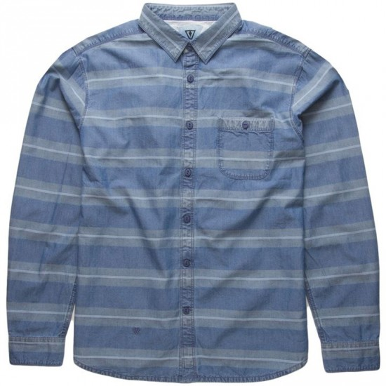 Vissla Vic Sander Long Sleeve Woven Shirt - Light Blue