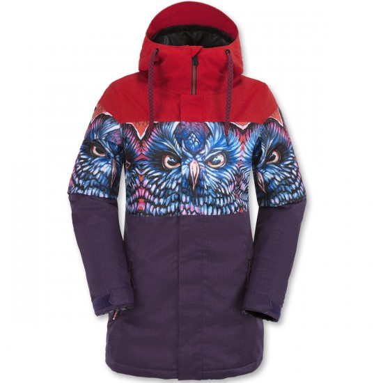 Volcom Act Insulated Snowboard Jacket - Snow Owl