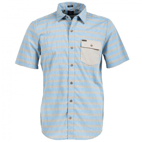 Volcom Benton Short Sleeve Shirt - Bold Blue