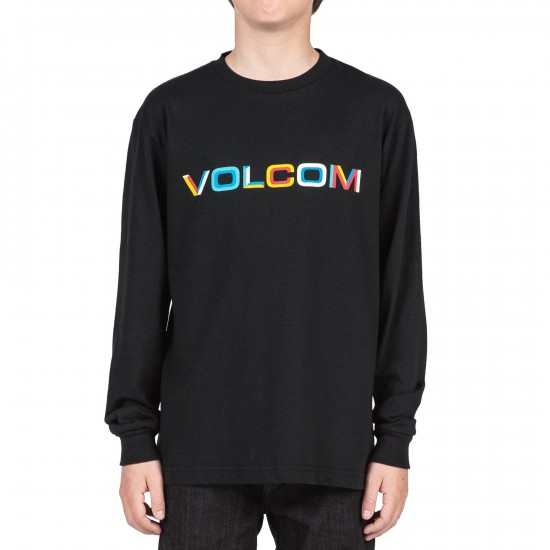 Volcom Bevel Stone Boys Long Sleeve T-Shirt - Black