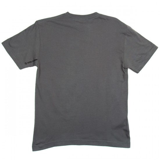 Volcom Bevel Stone Boys T-Shirt - Dark Grey
