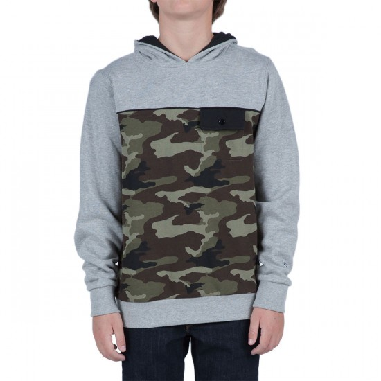 Volcom Big Youth Parks Pullover Hoodie - Heather Grey