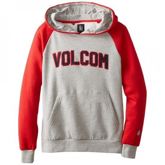 Volcom Big Youth Riker Athletic Pullover Hoodie - Heather Grey